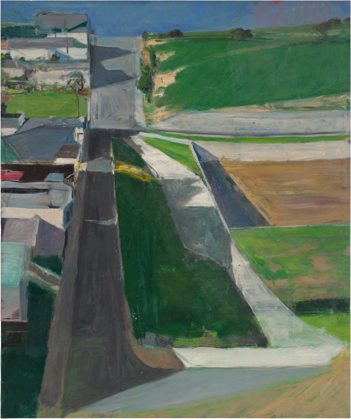 Richard Diebenkorn. Cityscape #1, 1963. Oil on canvas, 153 x 128.3 cm. San Francisco Museum of Modern Art. Purchased with funds from Trustees and friends in memory of Hector Escobosa, Brayton Wilbur,