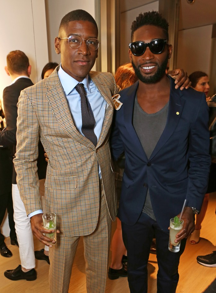 LONDON, ENGLAND - JUNE 14: Labrinth (L) and Tinie Tempah attend the dunhill and GQ style presentation to celebrate LCM SS16 at Phillips Gallery on June 14, 2015 in London, England. (Photo by David M. Benett/Dave Benett/Getty Images for Alfred Dunhill Ltd)