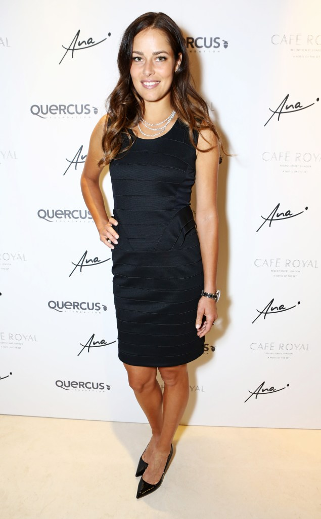 LONDON, ENGLAND - JUNE 24: Ana Ivanovic arrives at the Quercus Foundation Pre-Wimbledon Cocktails with Ana Ivanovic in the Ten Room at Hotel Cafe Royal on June 24, 2015 in London, England. Pic Credit: Dave Benett