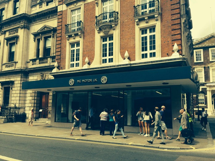 MG flagship store Piccadilly London
