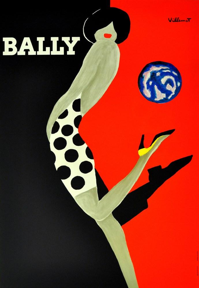 Bally Ball, original vintage poster by Villemot, 1980s, -ú1,500 from Antikbar