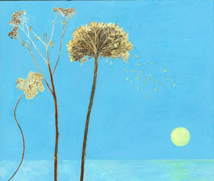 Jocelyn Clarke, Yarrow, 2013, oil on board, 36 x 41 cm, from Long & Ryle