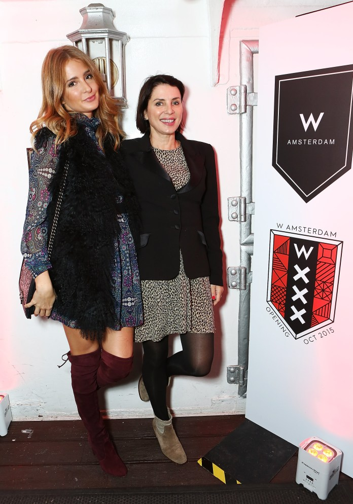 LONDON, ENGLAND - OCTOBER 08: Millie Mackintosh (L) and Sadie Frost attend the W Amsterdam WXXX boat party on the River Thames on October 8, 2015 in London, England. (Photo by David M. Benett/Dave Benett / Getty Images for W Hotel) *** Local Caption *** Millie Mackintosh; Sadie Frost