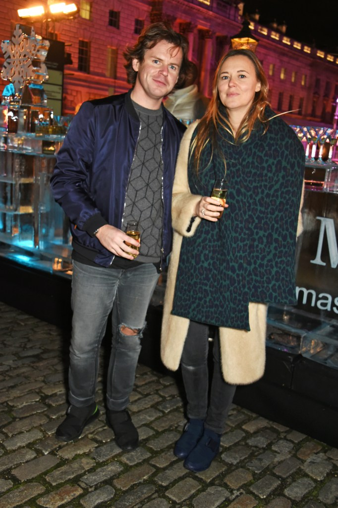 LONDON, ENGLAND - NOVEMBER 17: Christopher Kane (L) and Tammy Kane attend the opening party of Skate at Somerset House with Fortnum & Mason at Somerset House on November 17, 2015 in London, England. The stylish ice rink opens to the public on Wednesday 18th November and runs until Sunday 10th January 2016. Pic Credit: Dave Benett