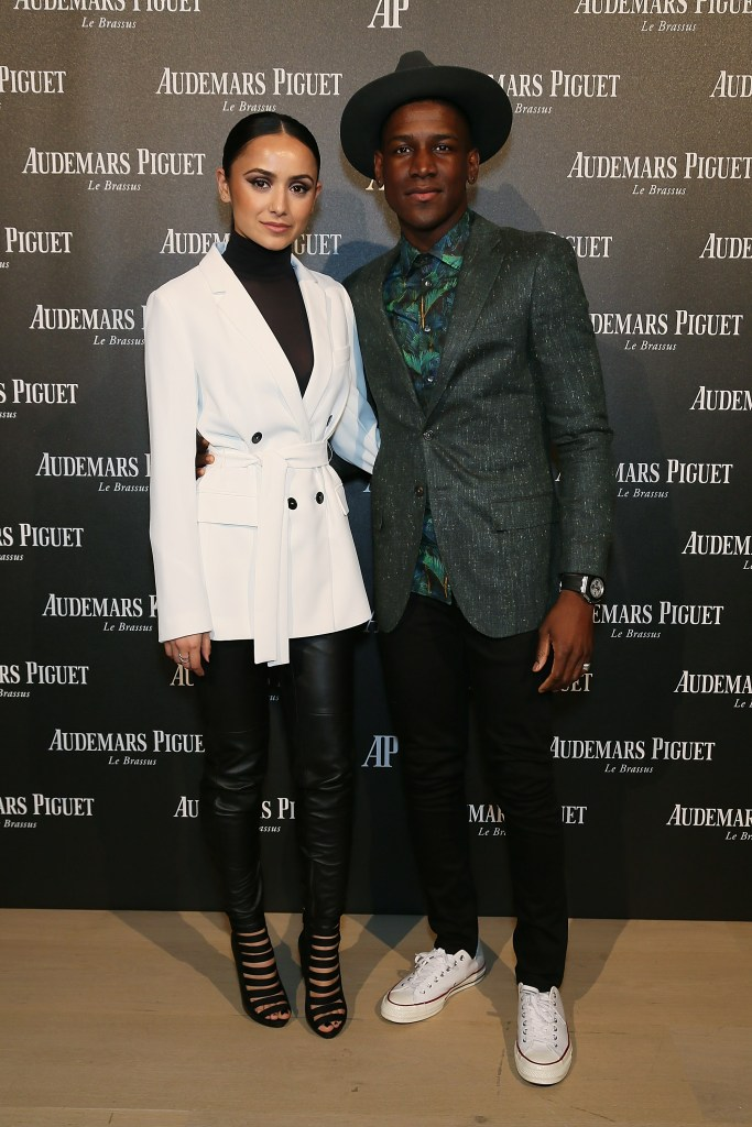 LONDON, ENGLAND - FEBRUARY 22: Labrinth and Muz attend as Audemars Piguet launch the Royal Oak Yellow Gold collectio at Phillips Gallery on February 22, 2016 in London, England. (Photo by David M. Benett/Dave Benett/Getty Images for Audemars Piguet) *** Local Caption *** Labrinth; Muz