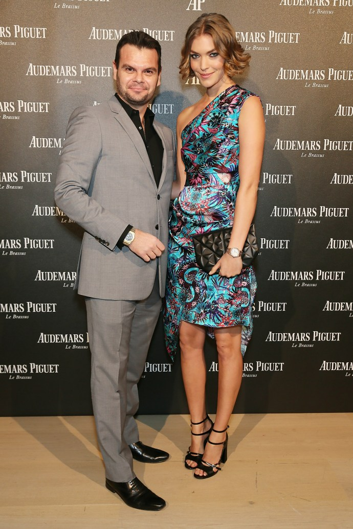 LONDON, ENGLAND - FEBRUARY 22: (L) Jose Torrens, CEO of Audemars Piguet UK and Arizona Muse attend as Audemars Piguet launch the Royal Oak Yellow Gold collectio at Phillips Gallery on February 22, 2016 in London, England. (Photo by David M. Benett/Dave Benett/Getty Images for Audemars Piguet) *** Local Caption *** Arizona Muse; Jose Torrens