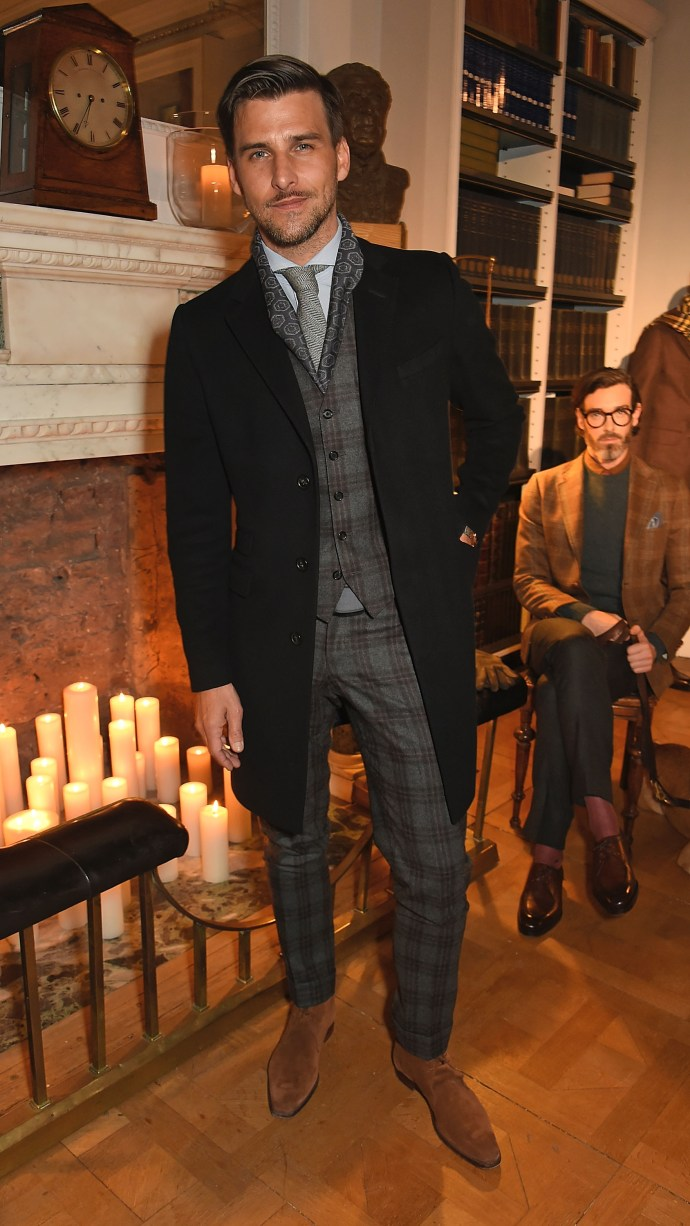 LONDON, ENGLAND - JANUARY 10: Johannes Huebl attends dunhill Autumn Winter 2016 Collection Presentation LCM on January 10, 2016 in London, England. (Photo by David M. Benett/Dave Benett/Getty Images for Alfred Dunhill) *** Local Caption *** Johannes Huebl
