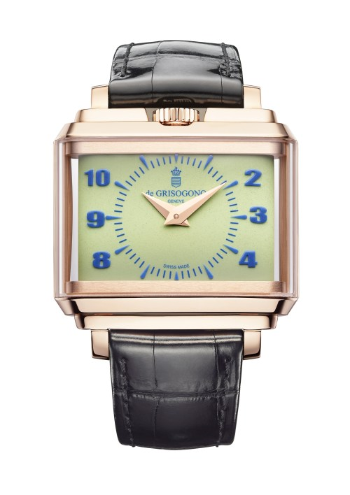 NEW de Grisogono New Retro N01 in rose gold with green dial