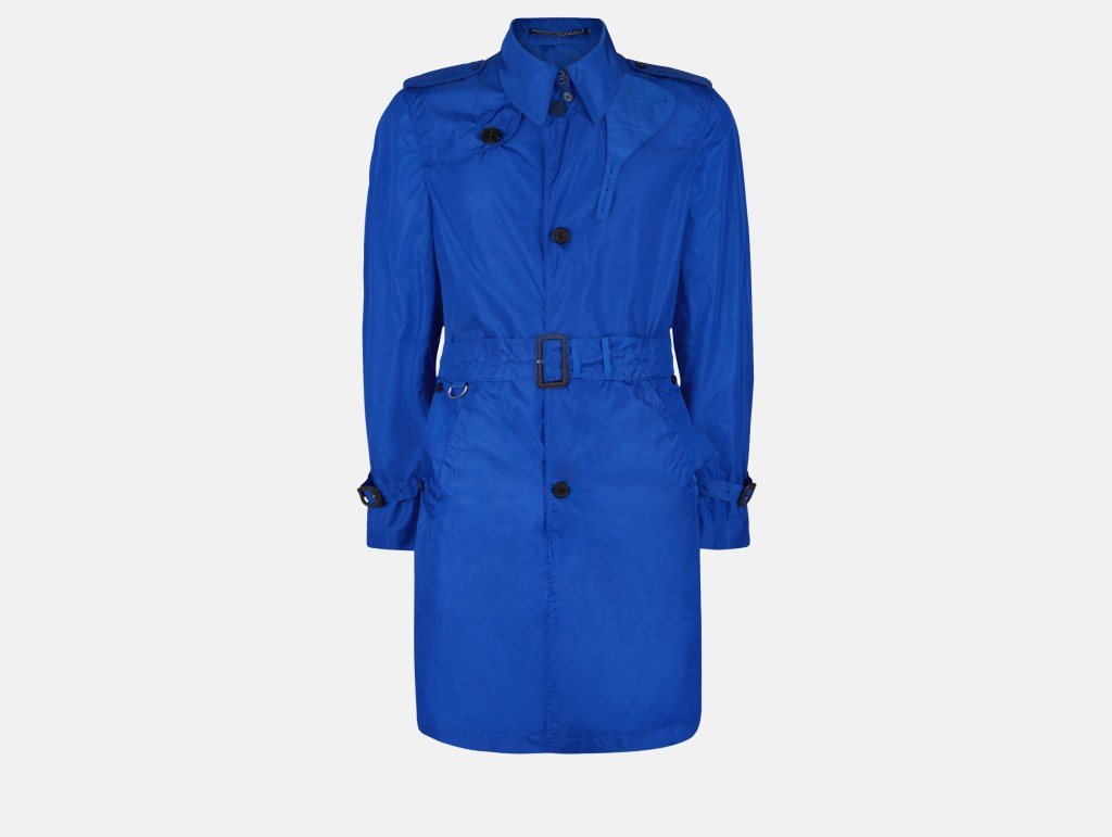 Voyager Packaway Trench Coat - Cobalt - Menswear