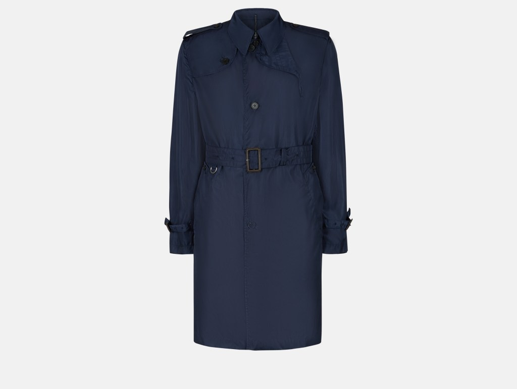 Voyager Packaway Trench Coat - Navy - Menswear
