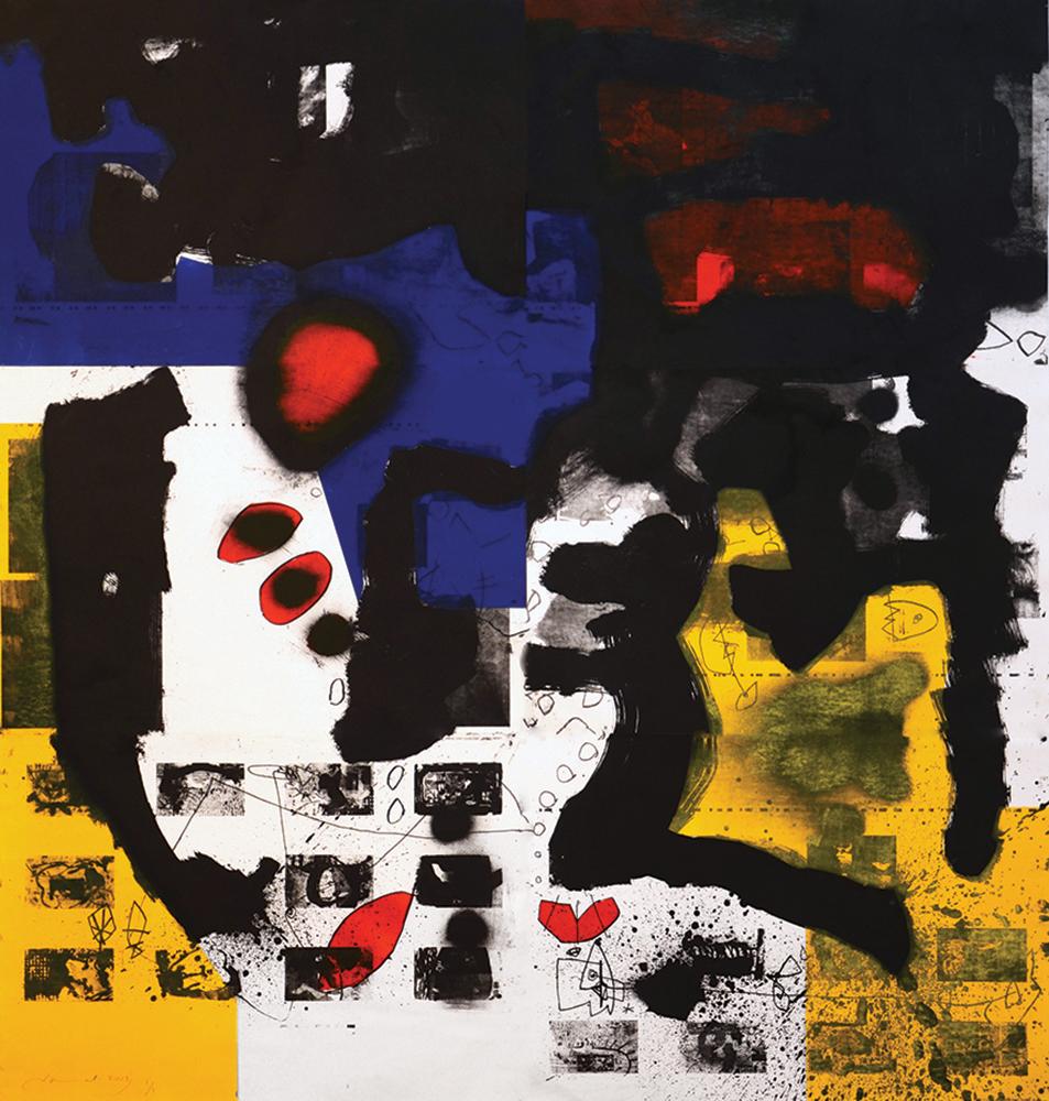 Jamal Abdul Rahim - Untitled - Lithograph - 120x160cm