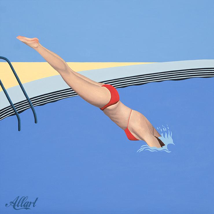 Diver / 60x60cm / acryl / © Jeroen Allart / 2020