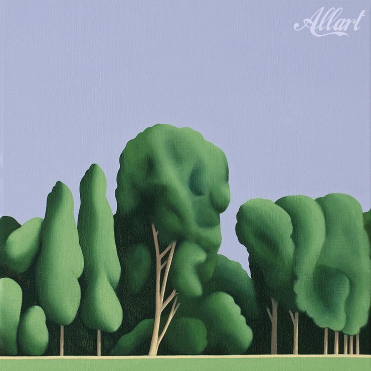 Forest / 40x40cm / oil / © Jeroen Allart / 2020