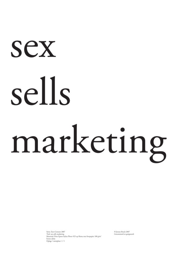 sex sells marketing