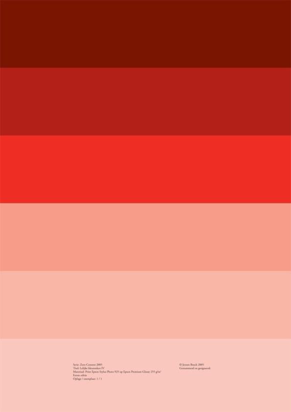 Lelijke kleurenleer IV