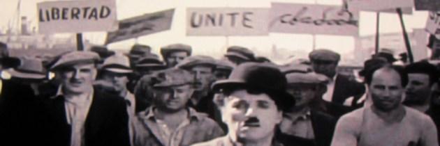 Charlie Chaplin wordt de mond gesnoerd