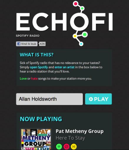 Echofi: maak radio van Spotify