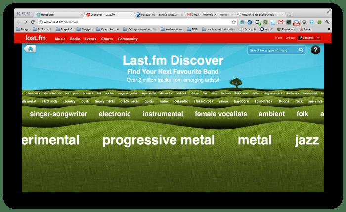 Muziek ontdekken met Last.fm Discover