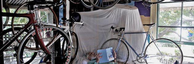 The Spokesman verzamelt fietsen