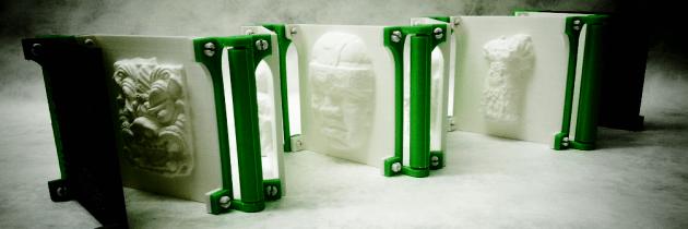Reliëfboek uit een 3D printer