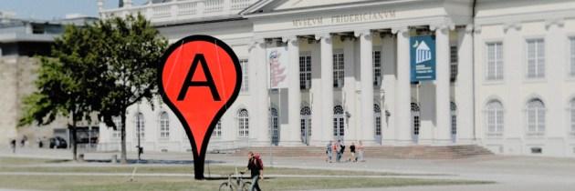 Hoe ziet een fysieke Google Map-locatie eruit?