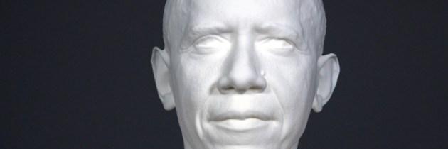 Obama gescand en geprint door Smithsonian Institute