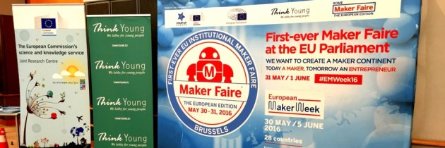 In Brussel bij opening van European Maker Week en de eerste European Maker Faire