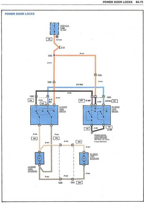 small resolution of electric door lock wiring diagram wiring diagram used chevy power door lock actuator wiring