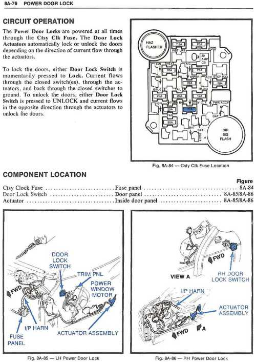 small resolution of  page 76 power door locks power lock wiring corvetteforum chevrolet corvette forum 1973 corvette fuse box