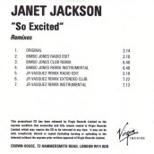 """Janet Jackson, """"So Excited"""""""