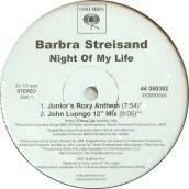 """Barbara Streisand, """"Night of My Life"""""""