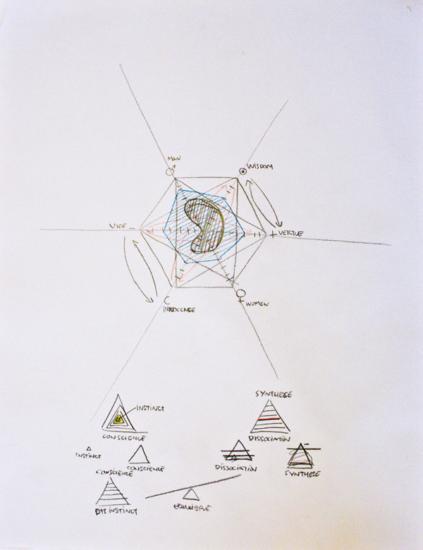 jerome pierre dessins portrait diagrammatic bleu