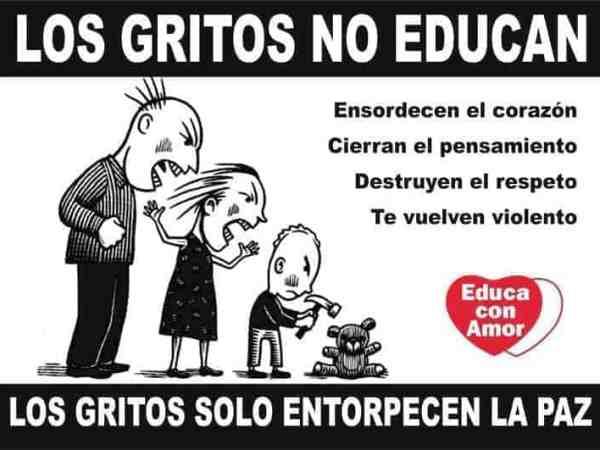 Los gritos no educan