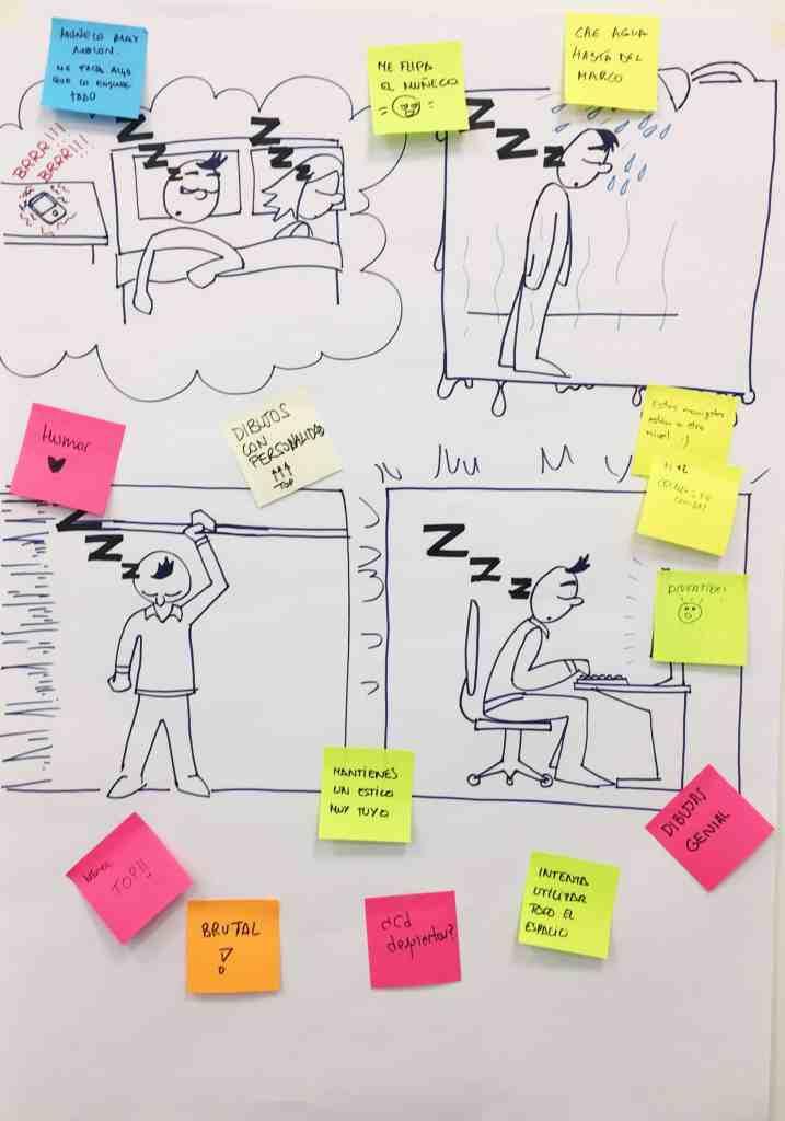 Ejercicio de facilitación gráfica en flipchart con feedback
