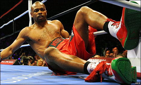 Roy Jones Jr. after fight
