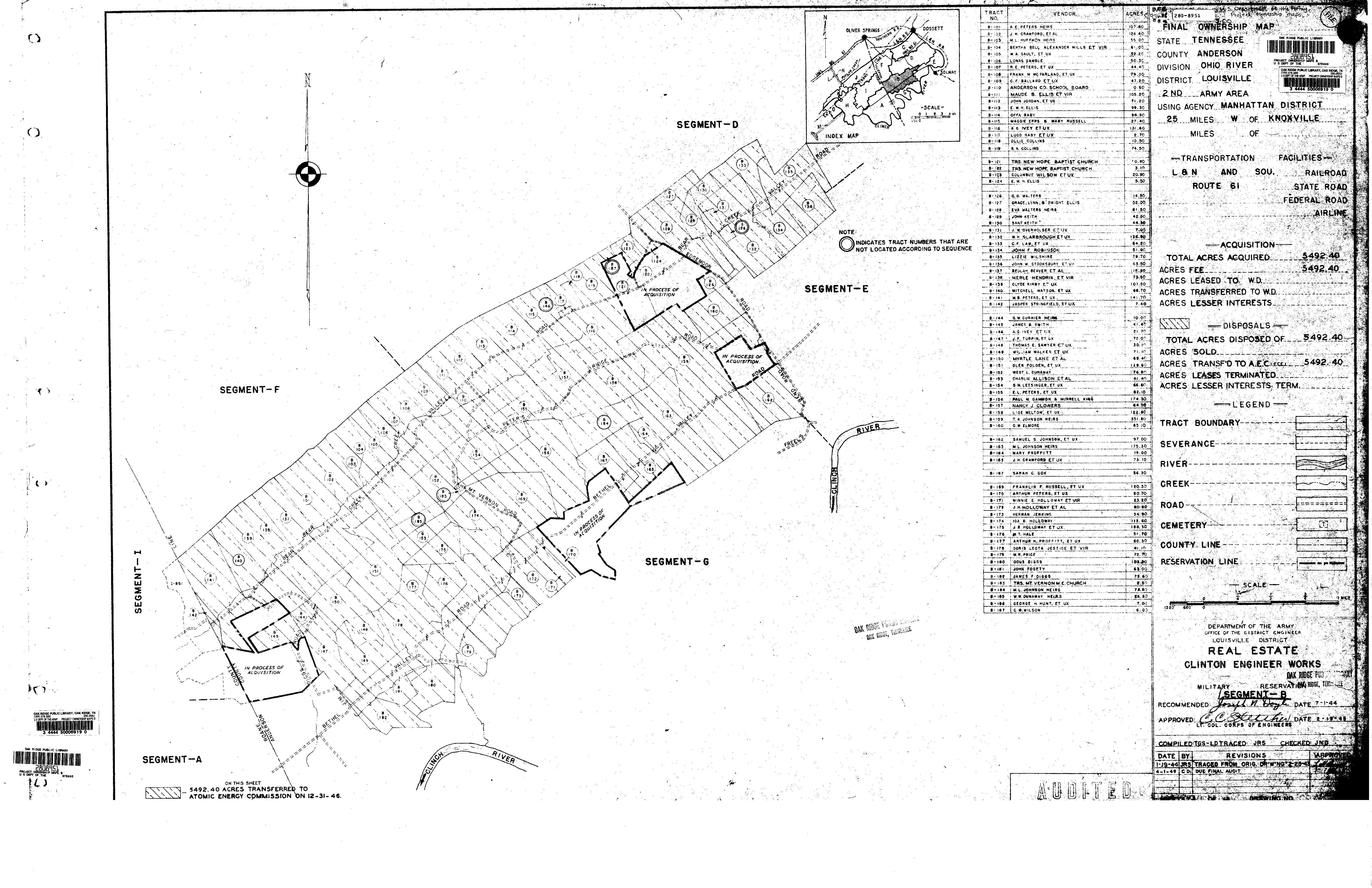 Anderson County Map Research Log Army Corps Of