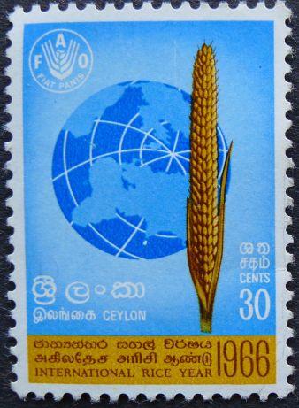 Ceylon, International Rice Year 1966