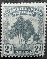 2d stamp, Gilbert & Ellice Islands - now Kiribati & Tuvalu