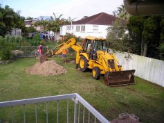 Digging for rainwater tank. Dec '03