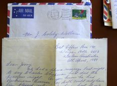 Correspondence from Mary Smith, advising of the death of Charles Chapman, 6.4.1989
