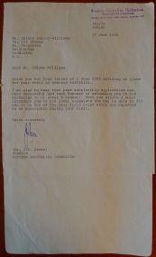 Correspondence from Dr Green, Curator, Western Australian Herbarium, 17.6.1982