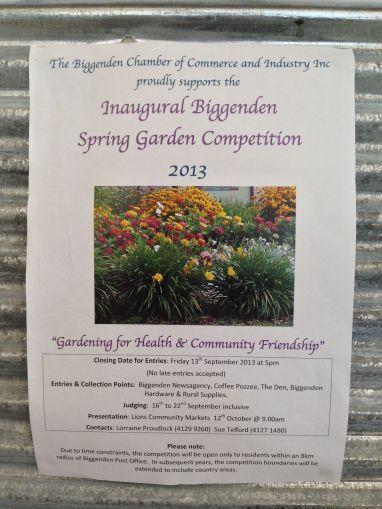 Biggenden inaugural Spring Garden Competition, 2013