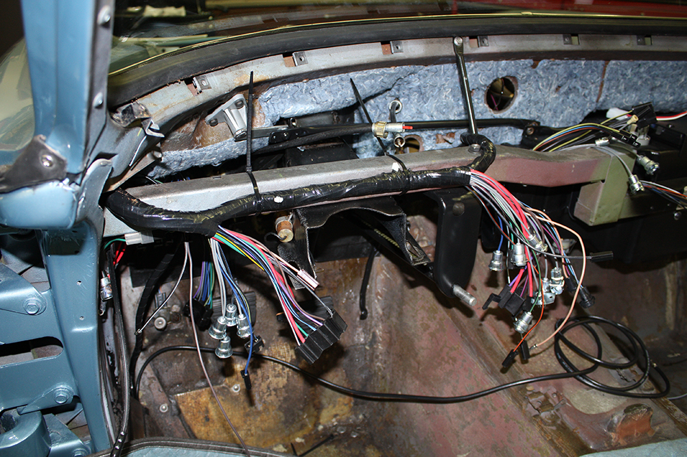 c3 radio wiring diagram xlr microphone body off restoration of 1964 corvette coupe – part 27 | jerry forthofer's car blog