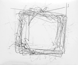'901 Attempts for a Square', robot on paper, 60 x 50 cm, 2011