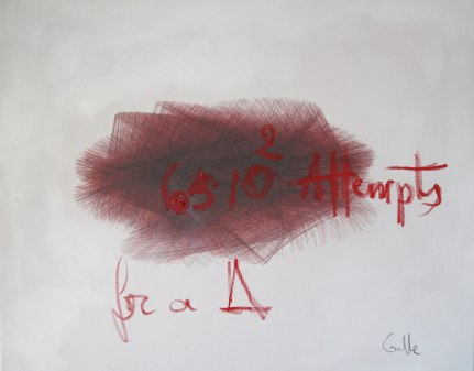 42380100 Attempts for a Triangle, mixed media, 96 x 78 cm, 2013