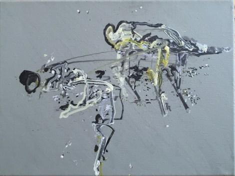 Attempt to Paint Broken Bridge, 39,5 x 29 cm, robot, oil on canvas, 2016