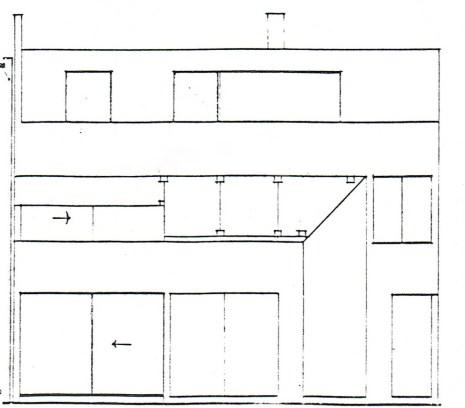 Elevation drawing of Casa Lila