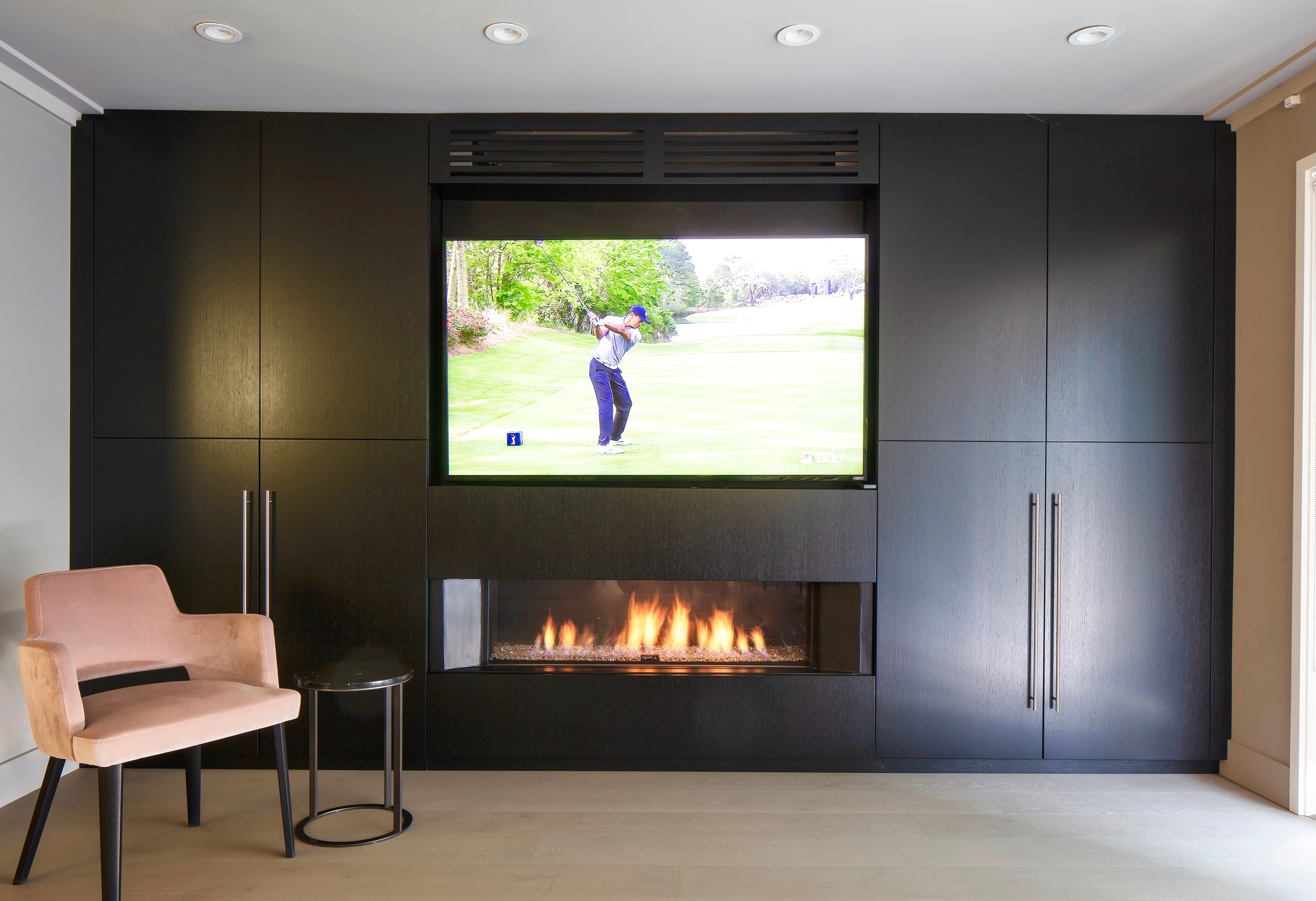 Fireplace and TV combination