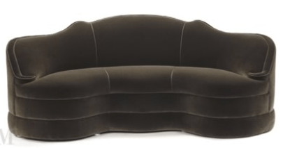 Schiaparelli Sofa, by Michael Taylor. At Michael Taylor Designs, San Francisco. After designs by Syrie Maugham