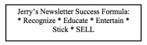 Jerry Jones Direct's Formula For Newsletters